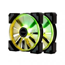 VENTILADOR 120X120 IN WIN CROWN ARGB PACK 2UD - Imagen 1