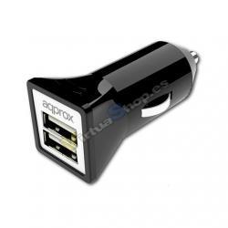 CARGADOR COCHE USB APPROX NEGRO - Imagen 1