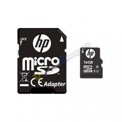 MEM MICRO SDHC 16GB HP CL10 U1 NEGRO ADAPTADOR SD - Imagen 1