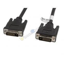 CABLE DVI-D LANBERG 24+1 MACHO/MACHO DUAL LINK 3M - Imagen 1