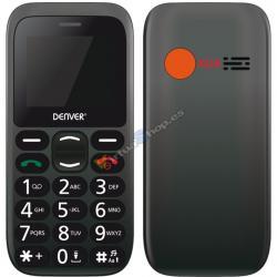 "TELEFONO SENIOR DENVER GSM900/1800 TFT 1.77"" BOTON SOS NEGRO - Imagen 1"