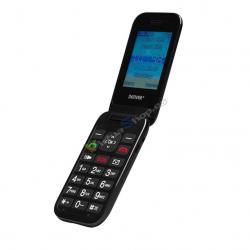 """TELEFONO SENIOR DENVER GSM900/1800 TFT 2.4"""" BOTON SOS BASE DE CARGA NEGRO - Imagen 1"""