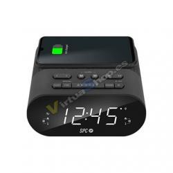 RADIO DESPERTADOR SPC FRODI QI NEGRO PANTALLA LED/2XALARMAS - Imagen 1