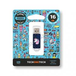 PENDRIVE 16GB TECH ONE TECH UNICORNIO DREAM USB 2.0 TEC4012 - Imagen 1