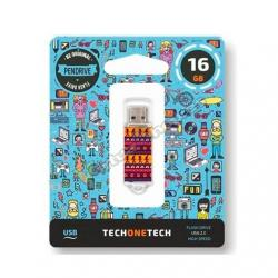 PENDRIVE 16GB TECH ONE TECH TRIBAL QUESTIONS USB 2.0 TEC401 - Imagen 1