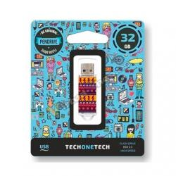 PENDRIVE 32GB TECH ONE TECH TRIBAL QUESTIONS USB 2.0 TEC401 - Imagen 1