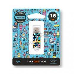 PENDRIVE 16GB TECH ONE TECH KALEYDOS USB 2.0 TEC4014-16 - Imagen 1
