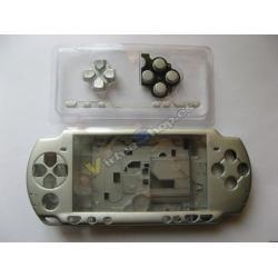 Carcasa Completa PSP SLim Plata - Imagen 1