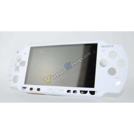 CARCASA FRONTAL PSP SLIM BLANCA - Imagen 1