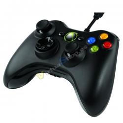 Mando Xbox360 Negro (Con cable) - Imagen 1