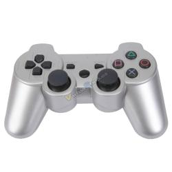 PS3 DUALSHOCK 3 GRIS PLATA BLUETOOTH ALTA CALIDAD COMPATIBLE