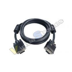 Cable VGA M/M Mcoax1,8mBK Ferr - Imagen 1