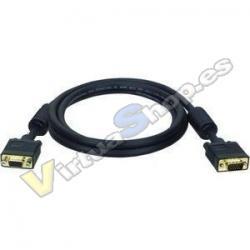 Cable VGA M/M Mcoax 3m BK Ferr - Imagen 1