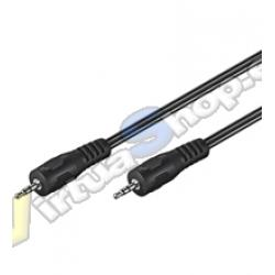 CABLE AUDIO 1xJACK-3.5M A 1xJACK-3.5M 2.5M - Imagen 1