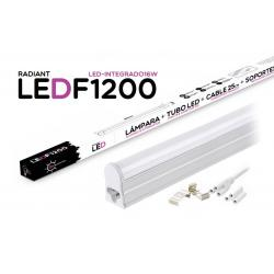 Tubo LED Integrado F1200 120CM 16W 6500K Luz Fría 1400LM Radiant - Imagen 1
