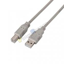 CABLE USB(A) A USB(B) AISENS A101-0003 BEIGE - Imagen 1