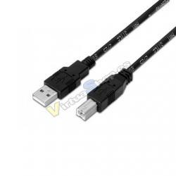 CABLE USB(A) A USB(B) AISENS A101-0006 NEGRO - Imagen 1