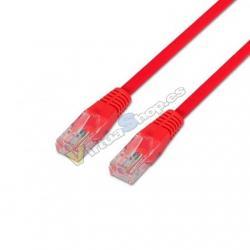 CABLE RED UTP CAT6 RJ45 AISENS 0.5M ROJO - Imagen 1