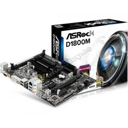 PLACA BASE ASROCK D1800M CPU INTEL DUAL CORE - Imagen 1