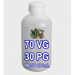 BASE E-LIQUID 70VG - 30PG 200ml BOTELLA 250ml PE BLANCA