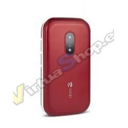 "TELEFONO MOVIL SENIOR DORO 6040 2,8"" ROJO BLANCO T3MPX - Imagen 1"