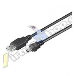 CABLE USB AM A MINI USB 5 PIN 3M CERTIFIED