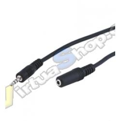 CABLE AUDIO 1xJACK-3.5H A 1xJACK-3.5M 2M EXTENSOR
