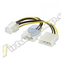 CABLE ALIMENTACION VGA AUXILIAR 2x5.25 A PCIE 6PIN - Imagen 1