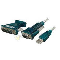 ADAPTADOR USB A SERIE RS232 +ADAP LOGILINK UA0042A - Imagen 1
