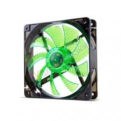 VENTILADOR 120X120 NOX COOLFAN 120 LED VERDE - Imagen 1