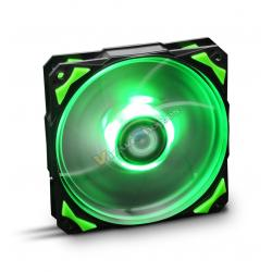 VENTILADOR 120X120 NOX HFAN 120 LED VERDE - Imagen 1