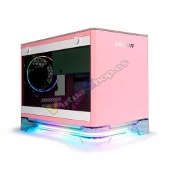 TORRE MINI ITX 650W IN WIN A1 PLUS ROSA - Imagen 1