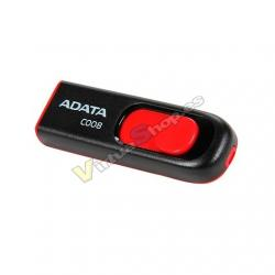 PENDRIVE 64GB USB2.0 ADATA AC008 NEGRO / ROJO - Imagen 1