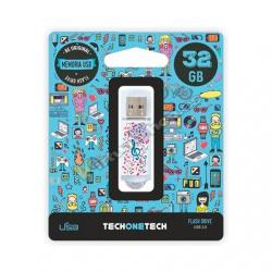 PENDRIVE 32GB TECH ONE TECH MUSIC DREAM - Imagen 1