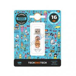 PENDRIVE 16GB TECH ONE TECH NO EVIL MONKEY - Imagen 1