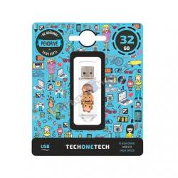 PENDRIVE 32GB TECH ONE TECH NO EVIL MONKEY - Imagen 1