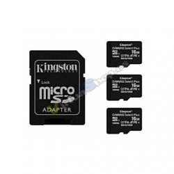 MEM MICRO SDHC 16GB KINGSTON CANVAS SELECT+ADAPT - Imagen 1