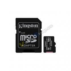 MEM MICRO SDXC 64GB KINGSTON CANVAS SELECT+ADAPT - Imagen 1