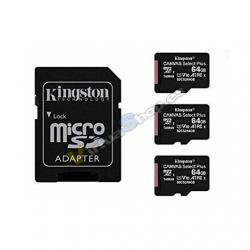 MEM MICRO SDXC 64GB KINGSTON CANVAS SELECT+ADAPT - Imagen 1
