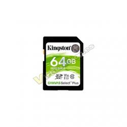 MEM SDXC 64GB KINGSTON CANVAS SELECT PLUS - Imagen 1