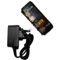 HUB 4 PUERTOS USB 2.0 L-LINK UH404L+FUENTE ALIM LL-UH-404 - Imagen 1