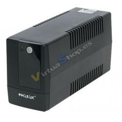 SAI/UPS 400VA PHASAK INTERACTIVO AVR 2XSCHUKO PH9404 - Imagen 1
