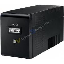 SAI/UPS 1500VA PHASAK DISPLAY LCD AVR 2XSCHUKO PH 9415 - Imagen 1