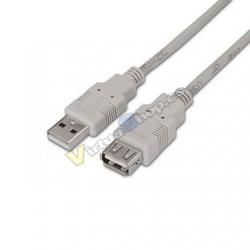 CABLE EXTENSOR USB(A) A USB(A)2.0 AISENS 1.8M - Imagen 1