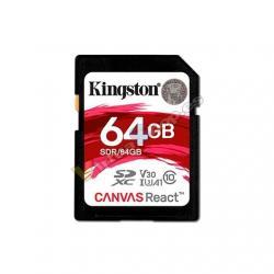 MEM SDXC 64GB KINGSTON CANVAS REACT UHS-I CL10 - Imagen 1