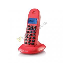 TELEFONO INALAMBRICO DECT DIGITAL MOTOROLA C1001LB+ ROJO - Imagen 1