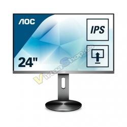 MONITOR LED IPS 23.8 AOC I2490PXQU/BT NEGRO/PLATA - Imagen 1