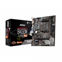 PLACA BASE MSI AM4 B450M A-PRO MAX - Imagen 1