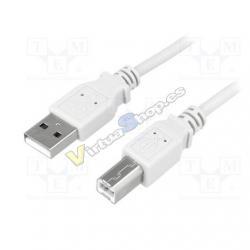CABLE USB(A) 2.0 A USB(B) 2.0 LOGILINK CU0008 3M - Imagen 1