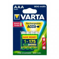 PILAS RECARGABLES VARTA AAA 800MAH PACK 4 - Imagen 1